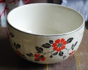 "Small Hall Red Poppy 6"" Bowl"