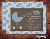 Printable It's A Boy Baby Shower Invitations (digital file) DIY Printing at home or your choice of printer