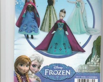 Simplicity Frozen Princess doll clothes pattern 0734
