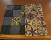 Green and Purple Flower Mini Quilt