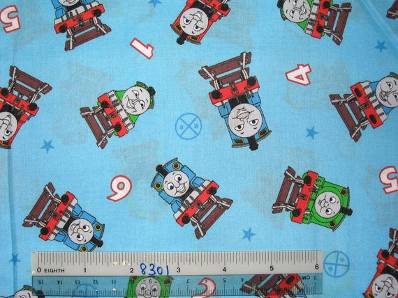 Rare thomas the train fabric remanant kids thomas and for Kids train fabric