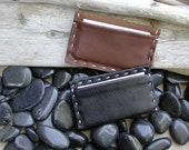 Leather Credit Card Case - Hand Stitched Double Sided