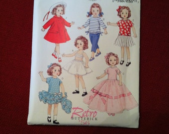 Butterick Pattern BP261 Retro Designs from 1956 for 18 Inch Dolls Uncut, Factory Fold