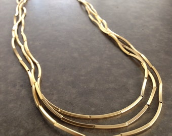 Gold necklace,bracelet necklace,Multi Strand Necklace,long necklace,multi bracelet,choker necklace,Geometric tubes,layered necklace