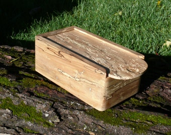 Spalted Maple Wood Box - home decor - hand crafted