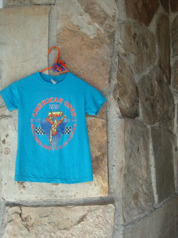 80s skateboard t shirt vintage distressed paper thin