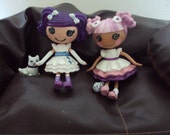 Rarity and sweetie belle mini lalaloopsy custom my little pony friendship is magic art dolls toy set