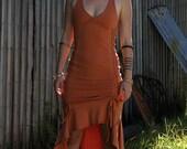 Flamenco Dress, Summer Dress, Cotton Cinch Dress