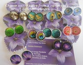 10 Pairs WHOLESALE (Many Images to choose from) Image Earrings..The more you buy the cheaper they become.