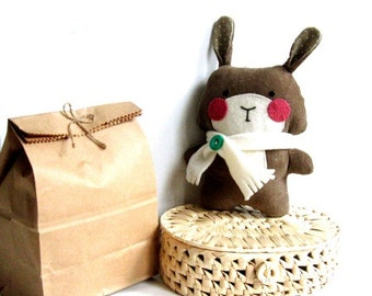Stuffed bunny sewing kit Make your own rabbit softie Handmade toy DIY tutorial Sewing tutorial DIY softie plushie stuffed animal