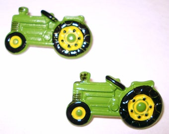 Vintage Buttons  .  Tractor  .  Marked .