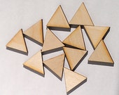 """25 Ct 2"""" Wood Triangles - Unfinished - for Charms, Crafts, Pendants, DIY Projects SH-306-2"""