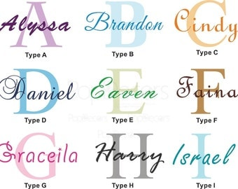 monogram wall decal removable vinyl letters personalized name decal free squeegee and color change baby nursery monogram wall decal art
