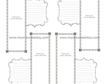2x6 Photo Booth Guest Book Downloadable 12x12 Pages