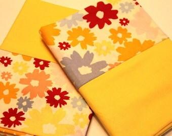 Retro Yellow Flower Pillowcases