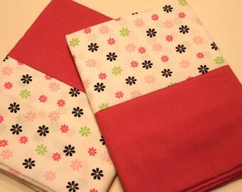 Pink Flower Pillowcases