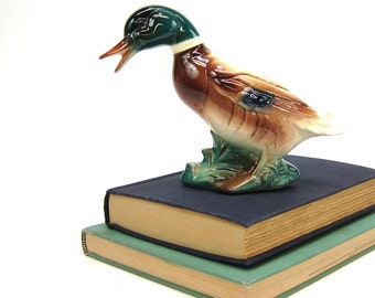 Mallard duck figurine - ceramic duck -  lake house decor