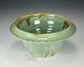 Earring Bowl  Earring Tree Green Glaze