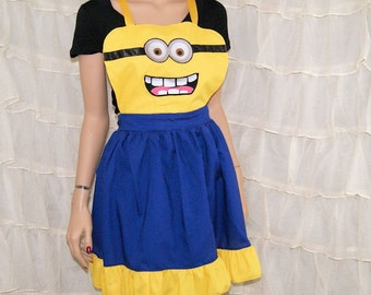 Inspired By Despicable Minion Cosplay Kitchen Apron MTCoffinz