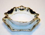 Noritake China Japan Porcelain Serving Dish Bowl Hand Painted Goldleaf Art Deco Design