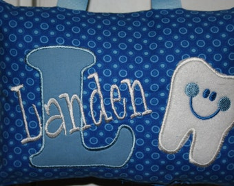 Boys Tooth Fairy Pillow Personalized Boutique Custom Made Nursery