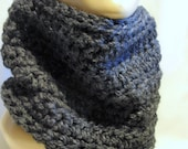 Neck Warmer Cowl Women's Scarves Charcoal Grey Fashion Accessories Mens Gray Cowl Scarf