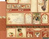 BOTH February Pages - RETIRED Graphic 45 Place in Time  ** See Discounted Shipping Note**