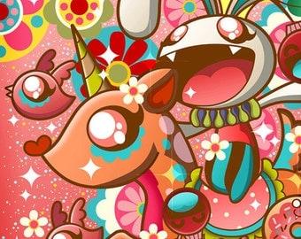 Bunnywars A2 poster print