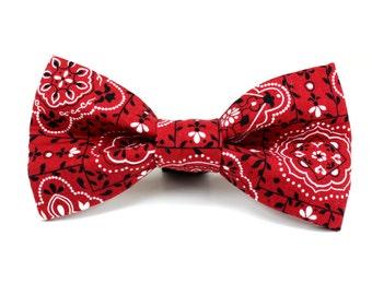 popular items for bandana bow tie on etsy