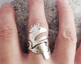 Fox Ring sterling silver