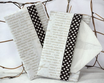 Tissue Holder for Purse, Travel: needlecraft theme
