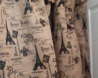 Shabby Chic Latte Paris Shower Curtain