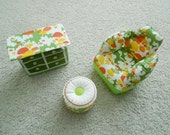 Inflatable Chair Ottoman & Dresser Set by Zee Toys from 1970's