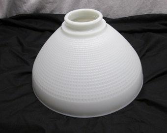 Ceiling or Pole Lamp Light Cover, Corning Milk Glass