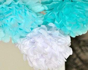 8 Tissue Poms- Frozen Party