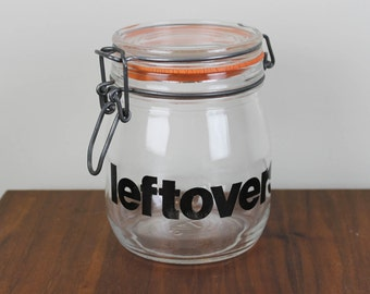 Triomphe Leftovers Glass Jar 3/4 Liter Capacity