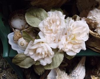 Ivory Rose Corsage Silk Flower