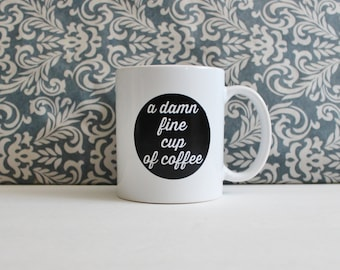A Damn Fine Cup of Coffee - Twin Peaks tv Show Pop Culture - coffee cup, mug, pencil holder, catch-all - Ready to Ship