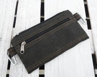 Vegan Fanny Pack, waist bag, Hipster belt pack, Unisex comfortable cycling case, Unique gift for men women, husband, dad, ideal festival bag