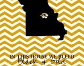 Missouri Tigers Chevron State print.