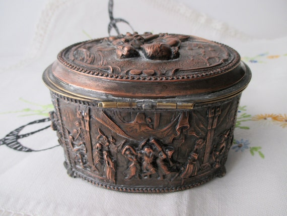 1900s a b paris antique french jewelry casket box treasure. Black Bedroom Furniture Sets. Home Design Ideas