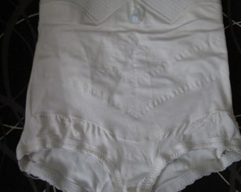 Satin Panty GIRDLE. Sexy, Pin up. White, Vintage Stretch. Size Small-Medium.  Montgomery Ward.  Pin up, Rockabilly, Lolita.  Made in USA.