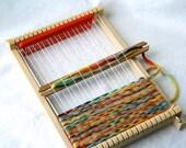 Natural Weaving Loom for Children 3 shuttles  - wooden loom children chraft weavingloom