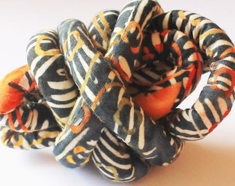 Designer handmade fabric covered necklace cord, jewelry supply, textile jewelry, fabric jewelry, pendant cord mc77