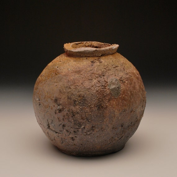 Small Ember Buried Jar - Anagama Fired, Rustic, Wabi Sabi