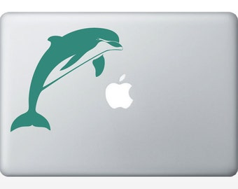 Dolphin laptop DECAL- orca macbook iPad computer- ocean water animal