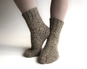 EU Size 38-39 - Hand Knitted Socks - 100% Natural Organic Wool - Warm Winter Eco Clothing