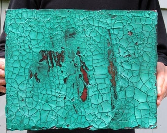 """Green and Red Textured Painting on Canvas, 11"""" x 14"""" x 1.5"""", Original Acrylic Painting"""