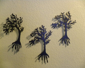 Trees in the Wind - Set of 3