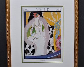 Original November 1921 Vogue Cover, Art Deco